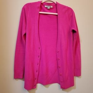 ⭐ Hot pink button down sweater cardigan
